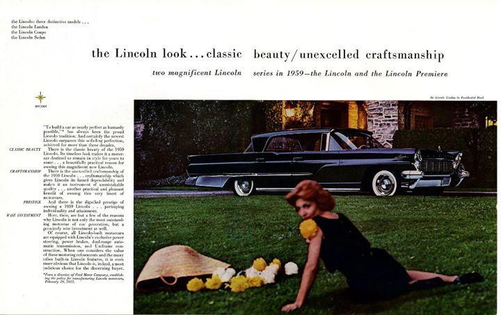 1959 Lincoln Brochure Magazine Articles Mercury Cars Cadillac Luxury