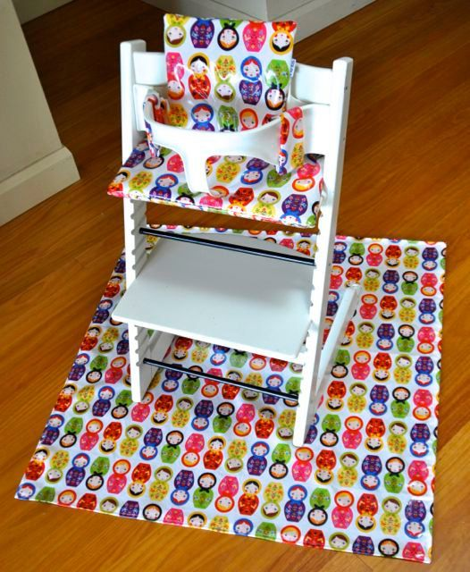 Set Cushion For Stokke Tripp Trapp Splash Mat Babushka Dolls