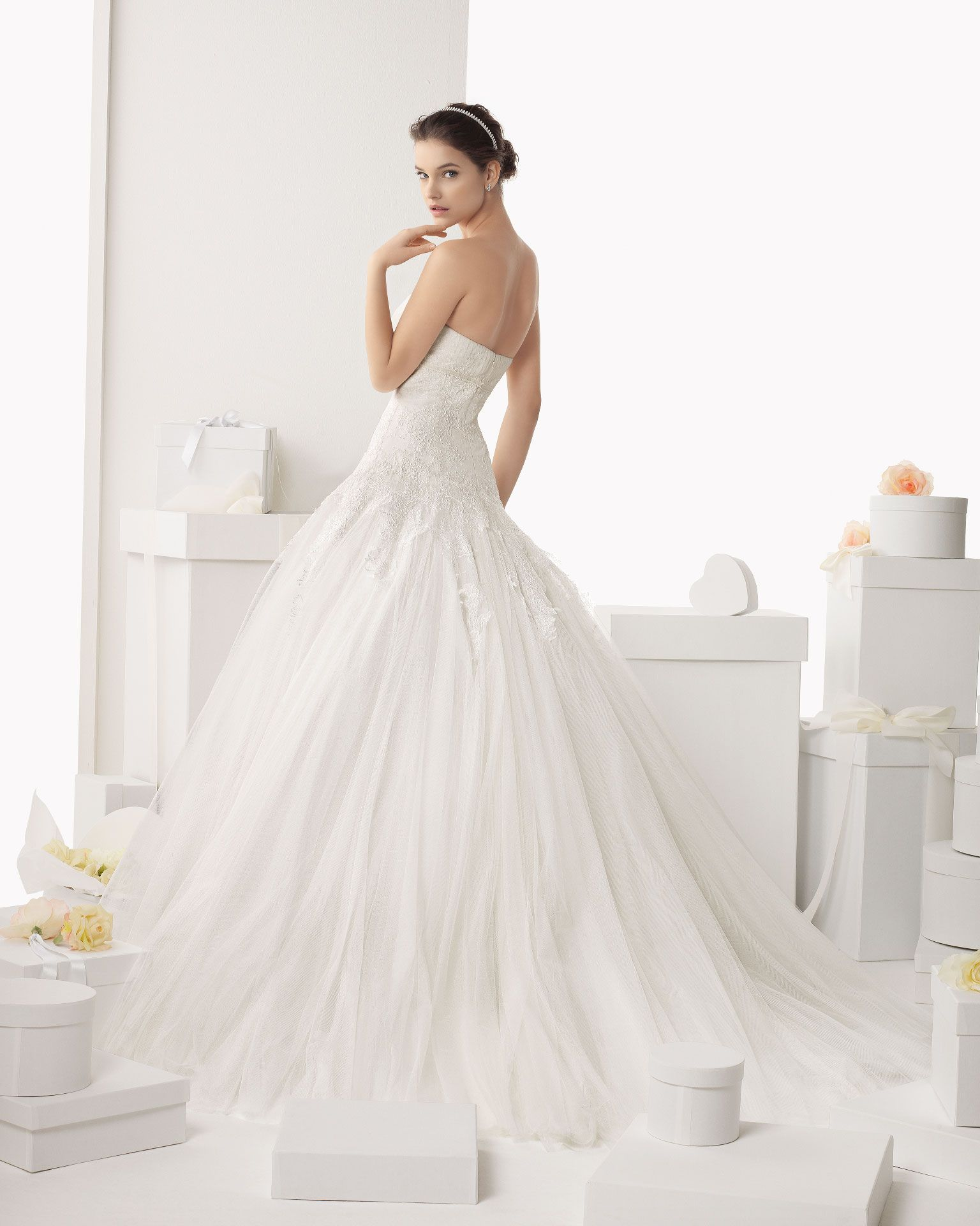 Dress with jacket for wedding   CALAFELL  Wedding Dresses   Rosa Clara Collection  Rosa