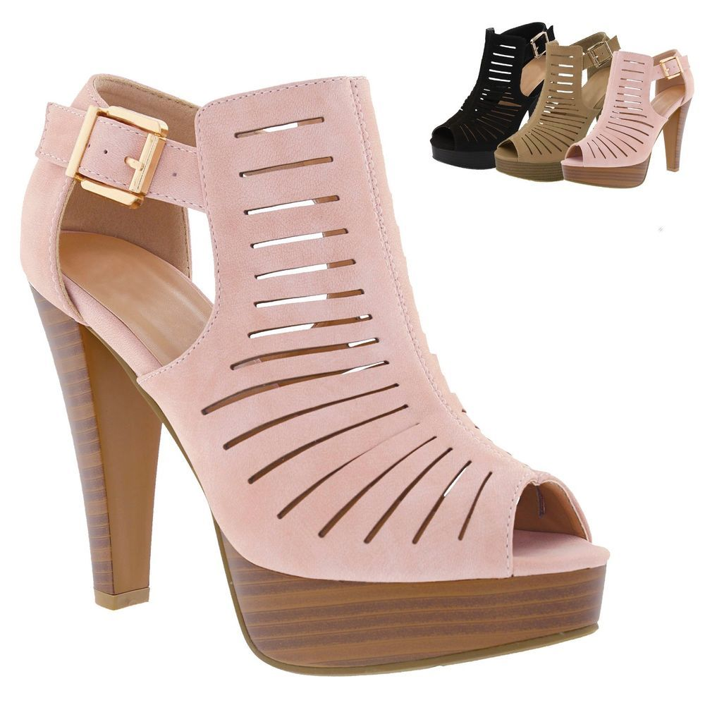 New Women Gladiator Strappy Chunky Platform High Heel Sandals Party Dress  Shoes  Unbranded  Platform  Casual 782810bc7f0
