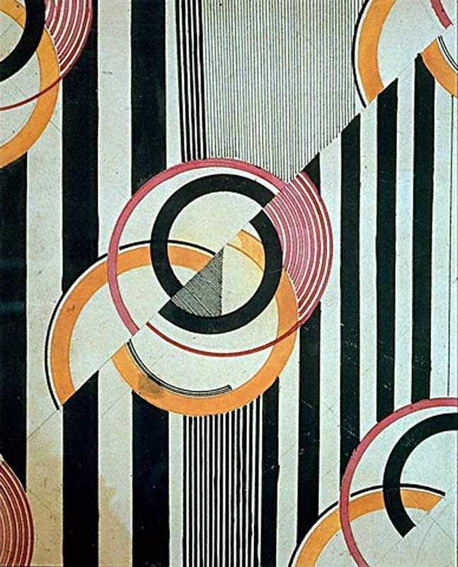 Liubov Popova Textile Design C 1924 Pencil And Ink On