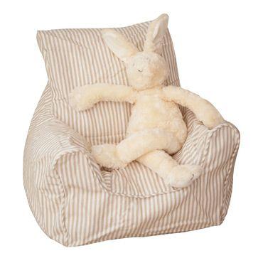 Beige Stripe Beanbag Mi Casa Bean Bag Chair Striped