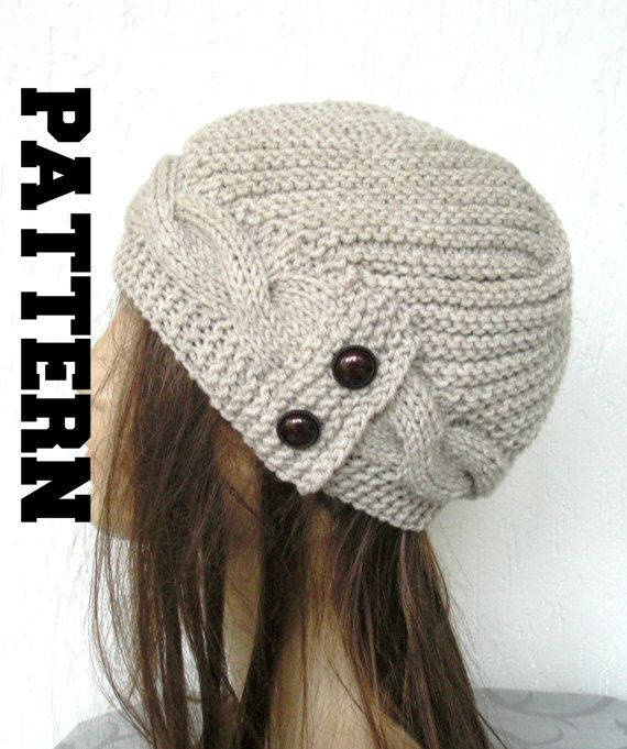 winter knitting Pattern Knit hat Digital Hat Knitting PATTERN PDF ...