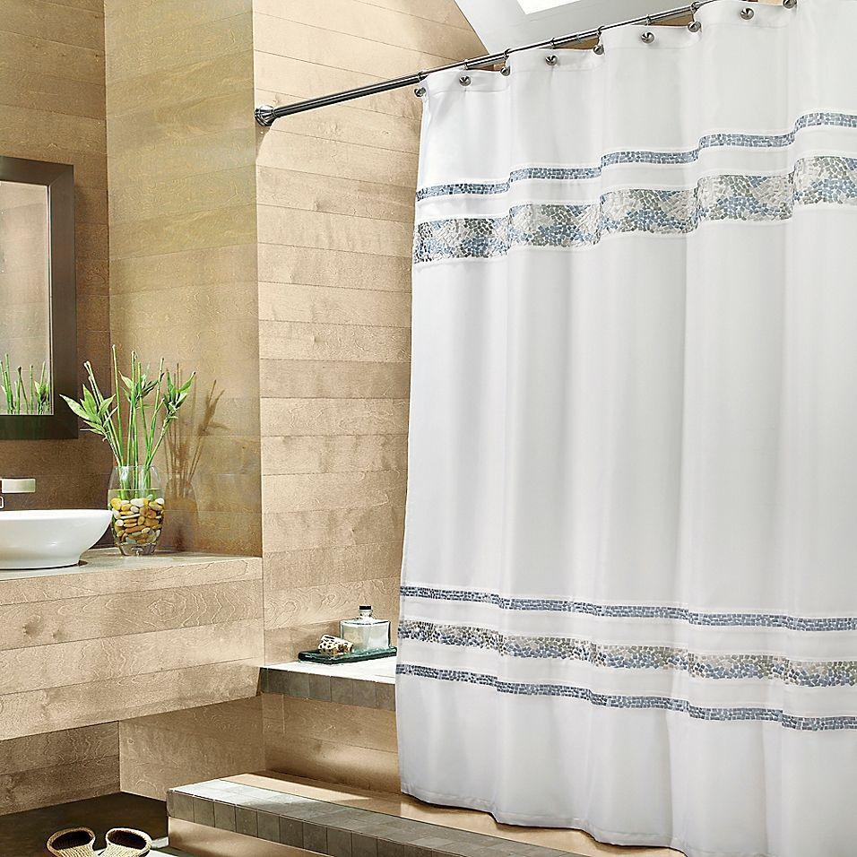Croscill Spa Tile 72 X 84 Fabric Shower Curtain In White In 2020