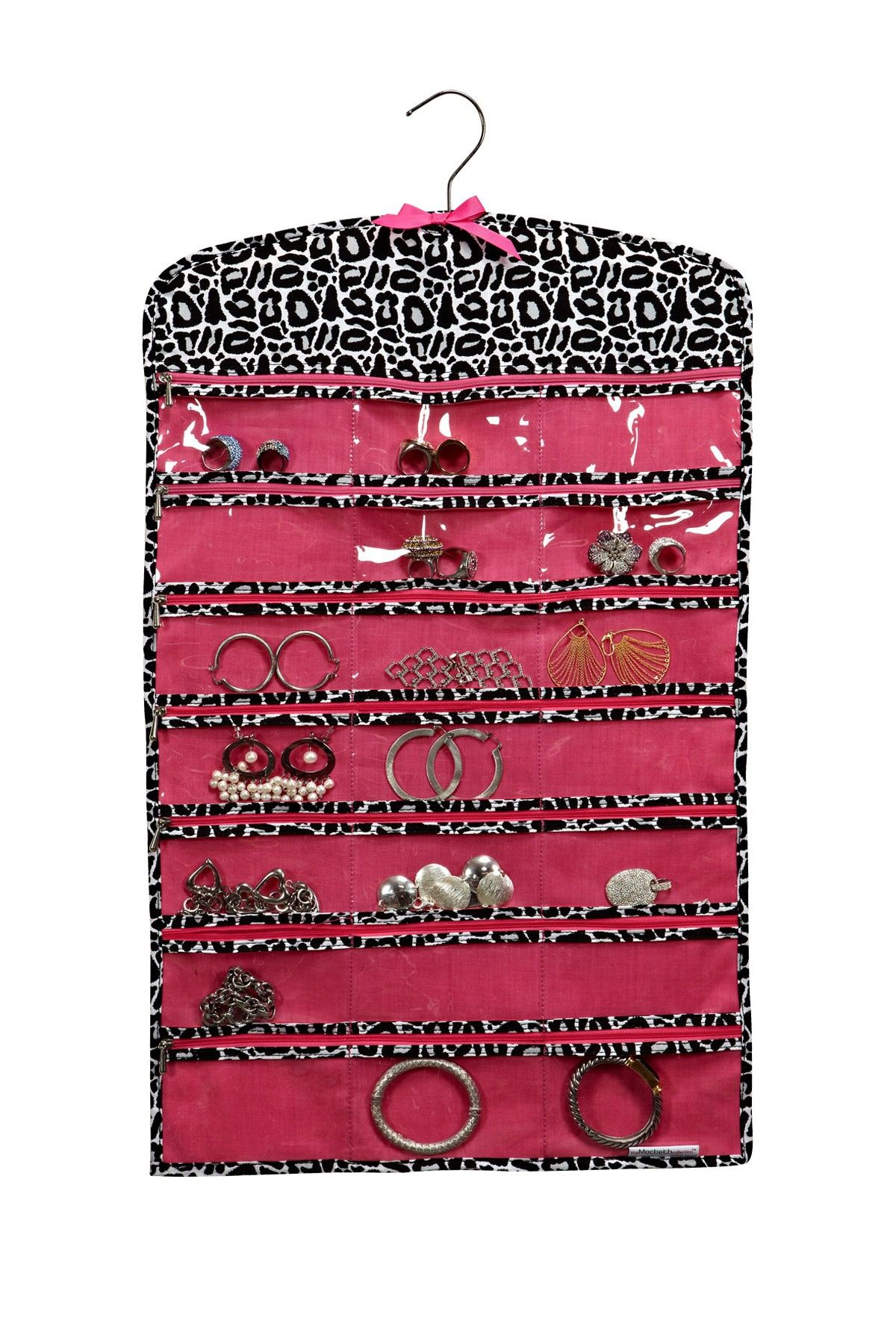 Macbeth Silver Leopard 42 Zipper Pocket Jewelry Organizer OCD