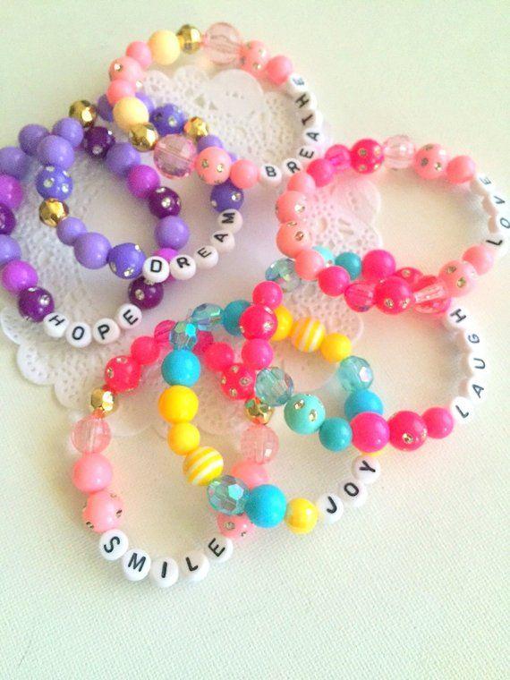 edd81257b CHRISTMAS sale Besties, best friends, friendship, word, personalized,  stretchy, kids bracelet. (one