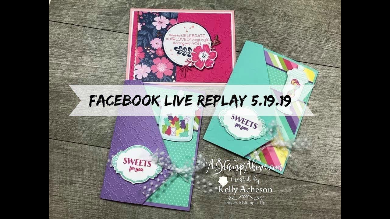 Facebook Live 5.19.19 Fun fold cards, Folded cards