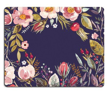 Mousepads Vintage background with hand drawn floral wreath IMAGE 36399570 by MSD Mat Customized Desktop Laptop Gaming Mouse Pad