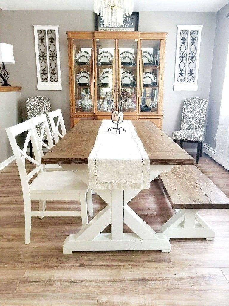 Farmhouse Dining Roomtable Custom Built Compliments Of New Custom Built Dining Room Tables Design Inspiration