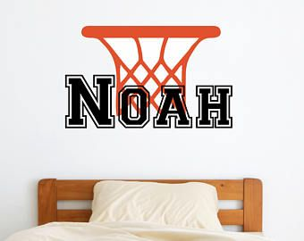 Marvelous Personalized Name Basketball Wall Decal   Custom Name Basketball Wall  Sticker   Vinyl Decal Monogram Girls