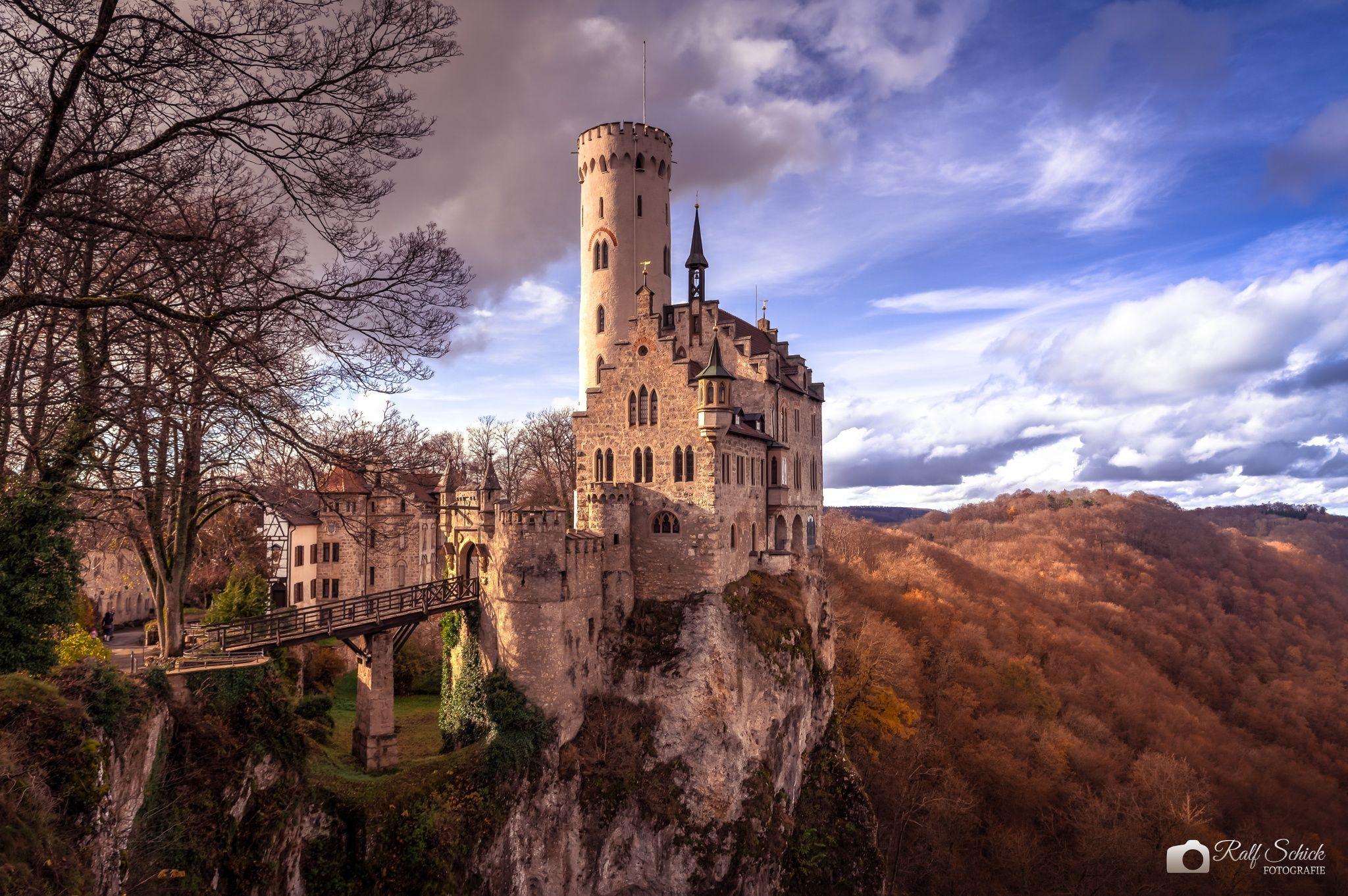 Last Light Of The Day Schloss Lichtenstein Schloss