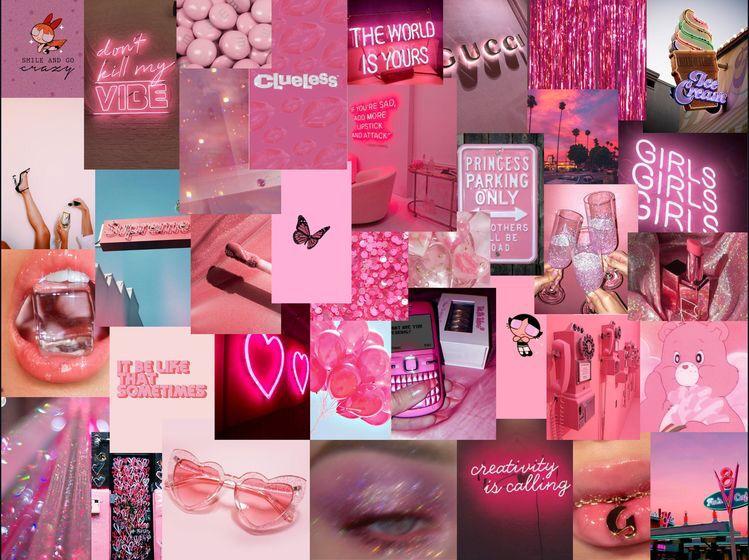 Pink Mood Board In 2020 Pretty Wallpaper Iphone Aesthetic Iphone Wallpaper Aesthetic Desktop Wallpaper