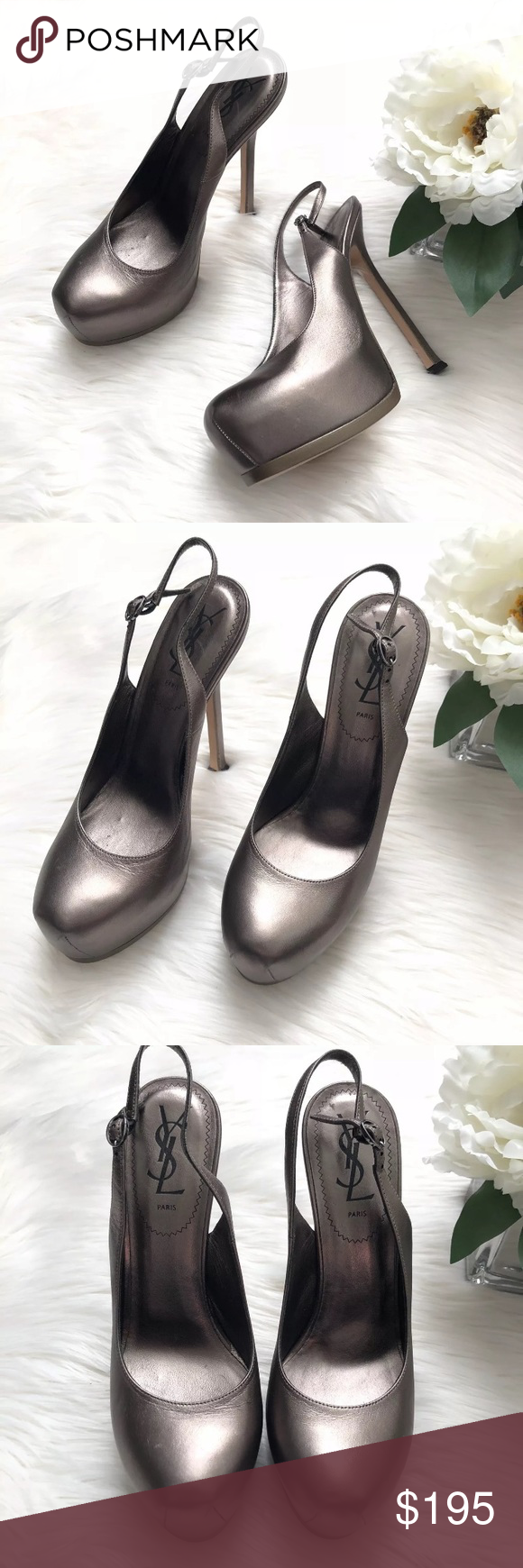 baf0c04b70f YSL Yves Saint Laurent Rose Gold Slingback Pumps Beautiful and in excellent  condition! YSL Tribtoo
