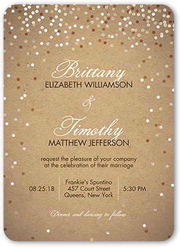 Shimmering Celebration 5x7 Wedding Invitations Shutterfly Wedding Invitations Affordable Wedding Invitations Personalised Wedding Invitations