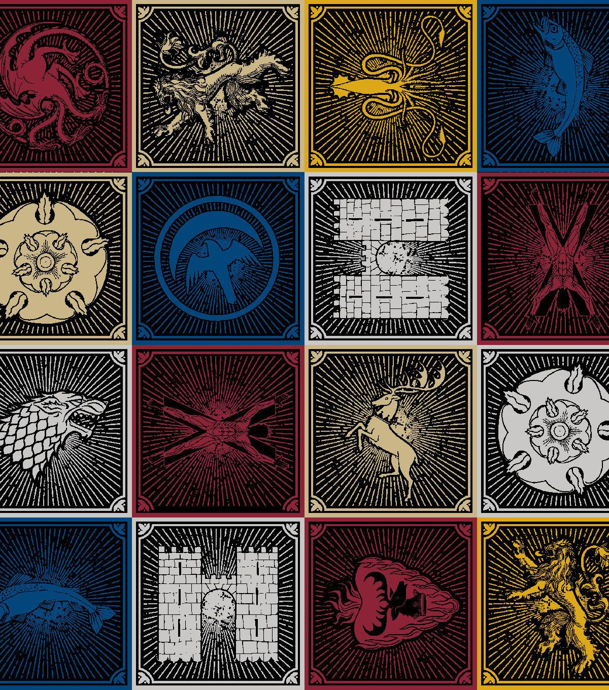 Game of thrones flannel fabric