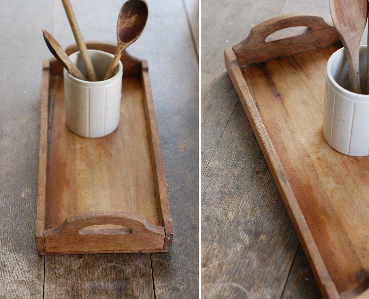 Primitive Antique Wood Tray