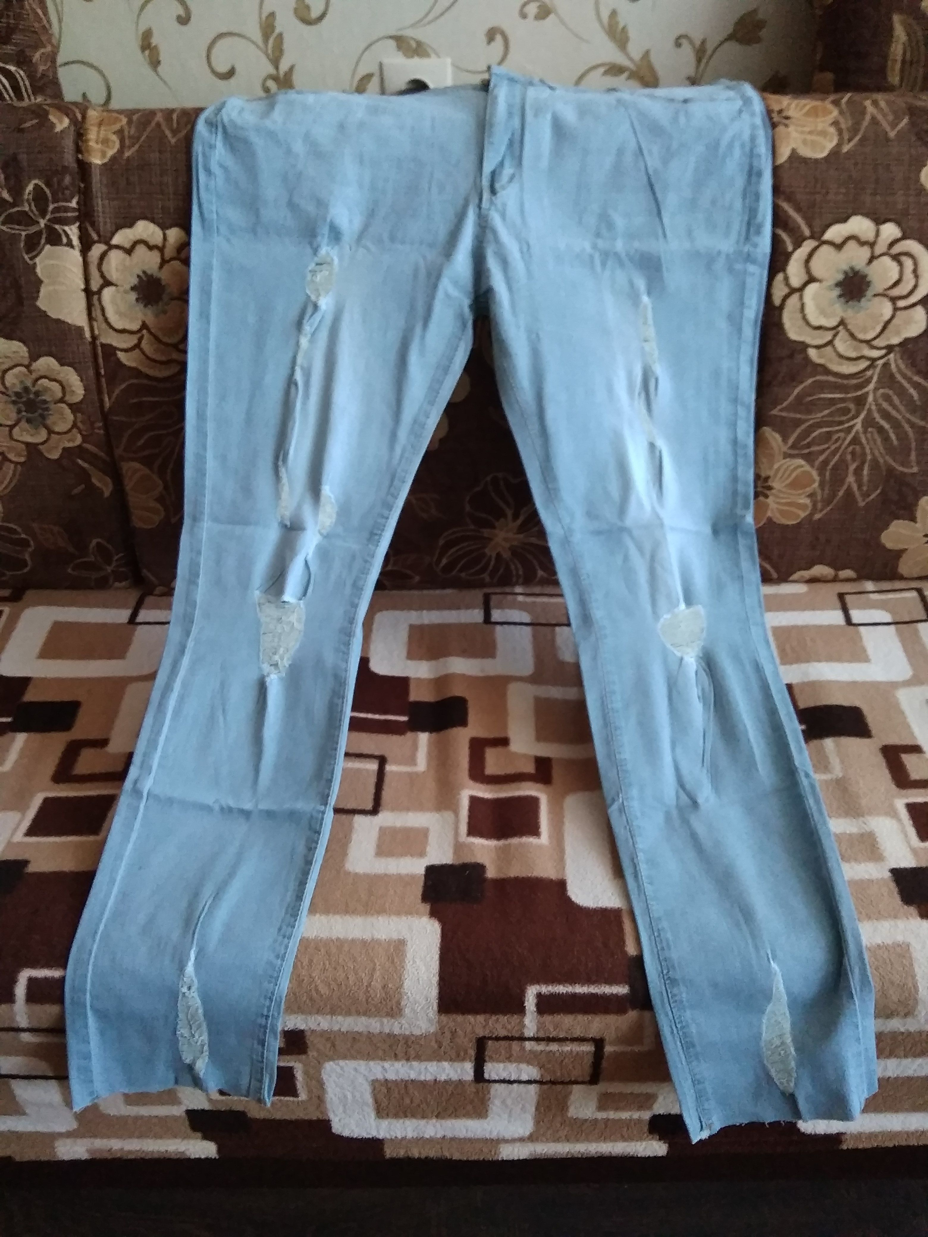 f34cc069754 Romacci Women Plus Size Ripped Jeans 5XL 6XL 7XL Slim Denim Destroyed -  sheheonline