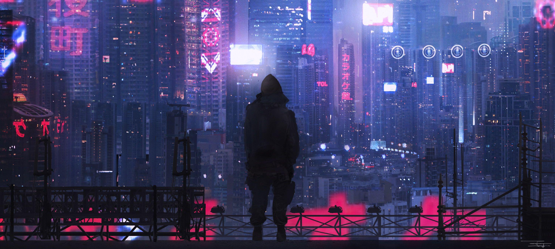 digital art Cheng Yu futuristic city science fiction