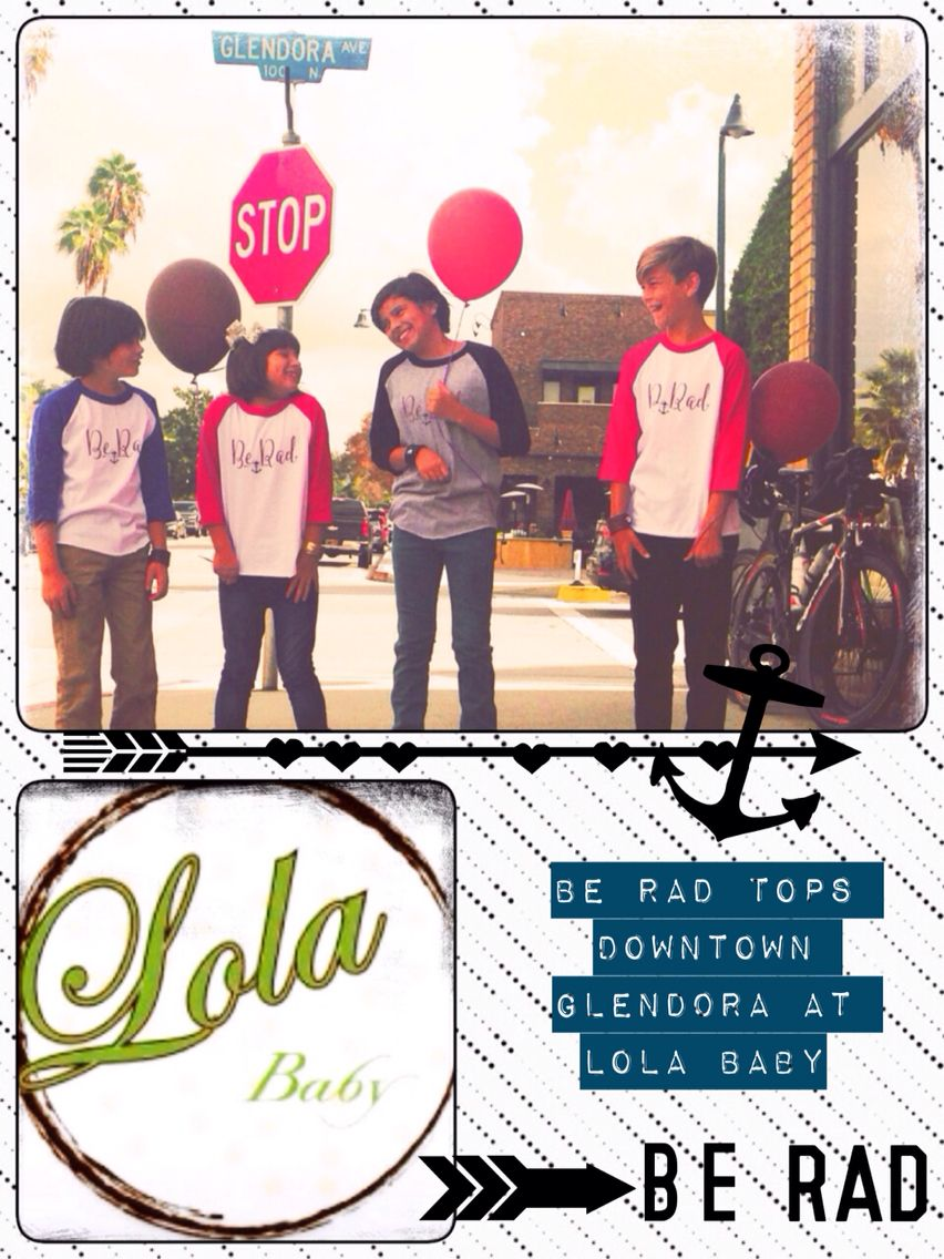 We're happy to announce that you can now purchase the  Be Rad kids clothing line at Lola Baby, downtown Glendora Let's cloth our rad kids in inspiration!!! Be Rad is to inspire awesomeness!!  The ⚓️anchor is encourage them to be anchored in what they believe in, like their faith. The  arrow is there to remind them to go in the right direction.  Give that rad kid in your life the gift that inspires them and everyone who sees them wearing it @lolababyglendora #lolababy #berad #harmoniecuffs