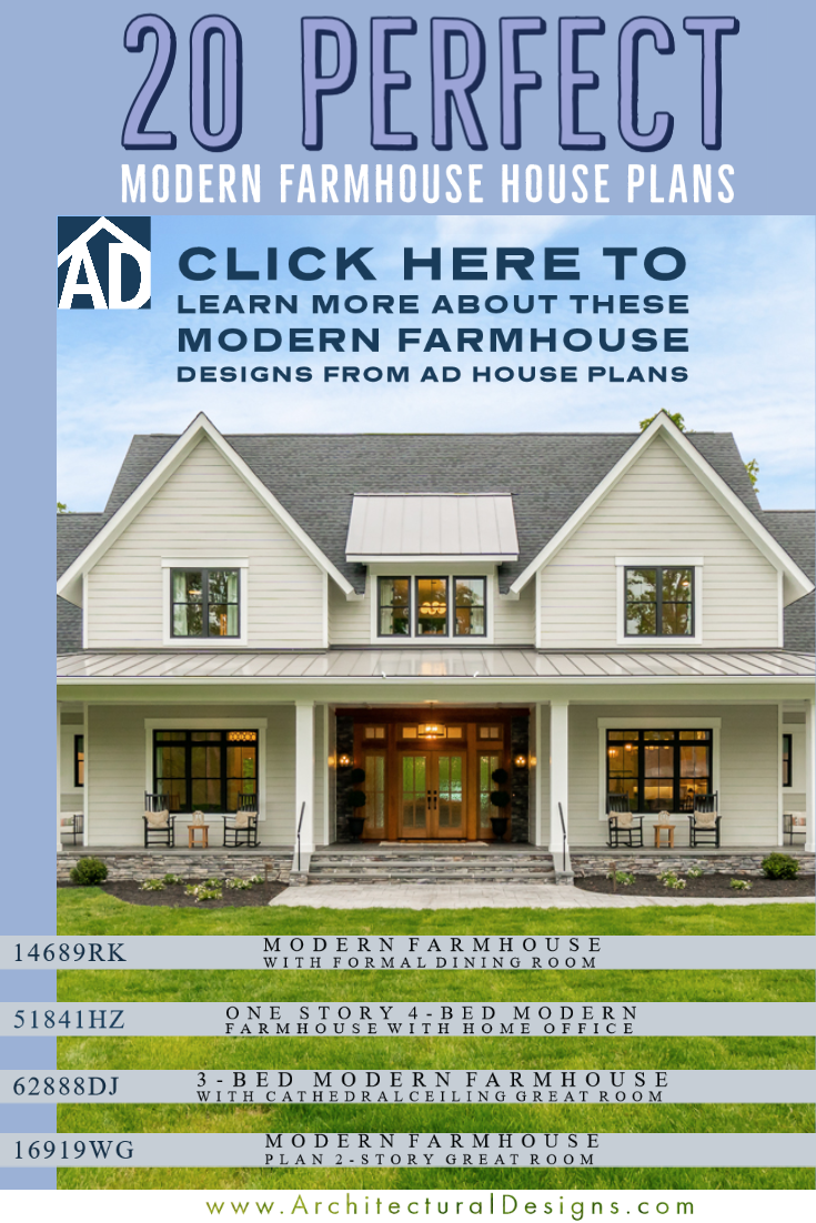 20 Of The Best Modern Farmhouse Plans One Story Farmhouse Plans 2 Story Farmhouse Plans In 2020 Modern Farmhouse Plans House Plans Farmhouse House Plans