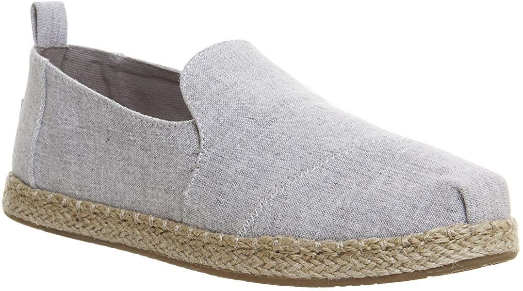 e18b01da5 Amazon.com | TOMS Women's Deconstructed Alpargata Black Heritage Canvas 9 B  US B (