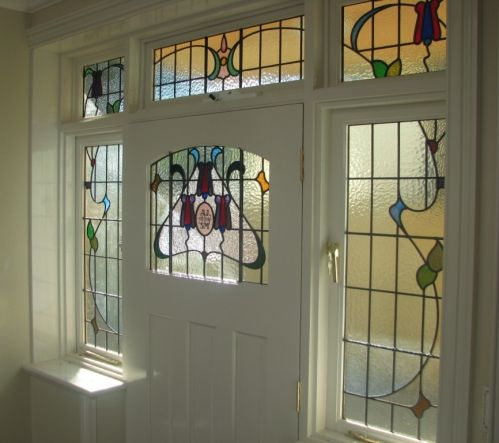 Pin By Kristi Topp On Glendene Stained Glass Door Leaded Glass Door Glass Front Door