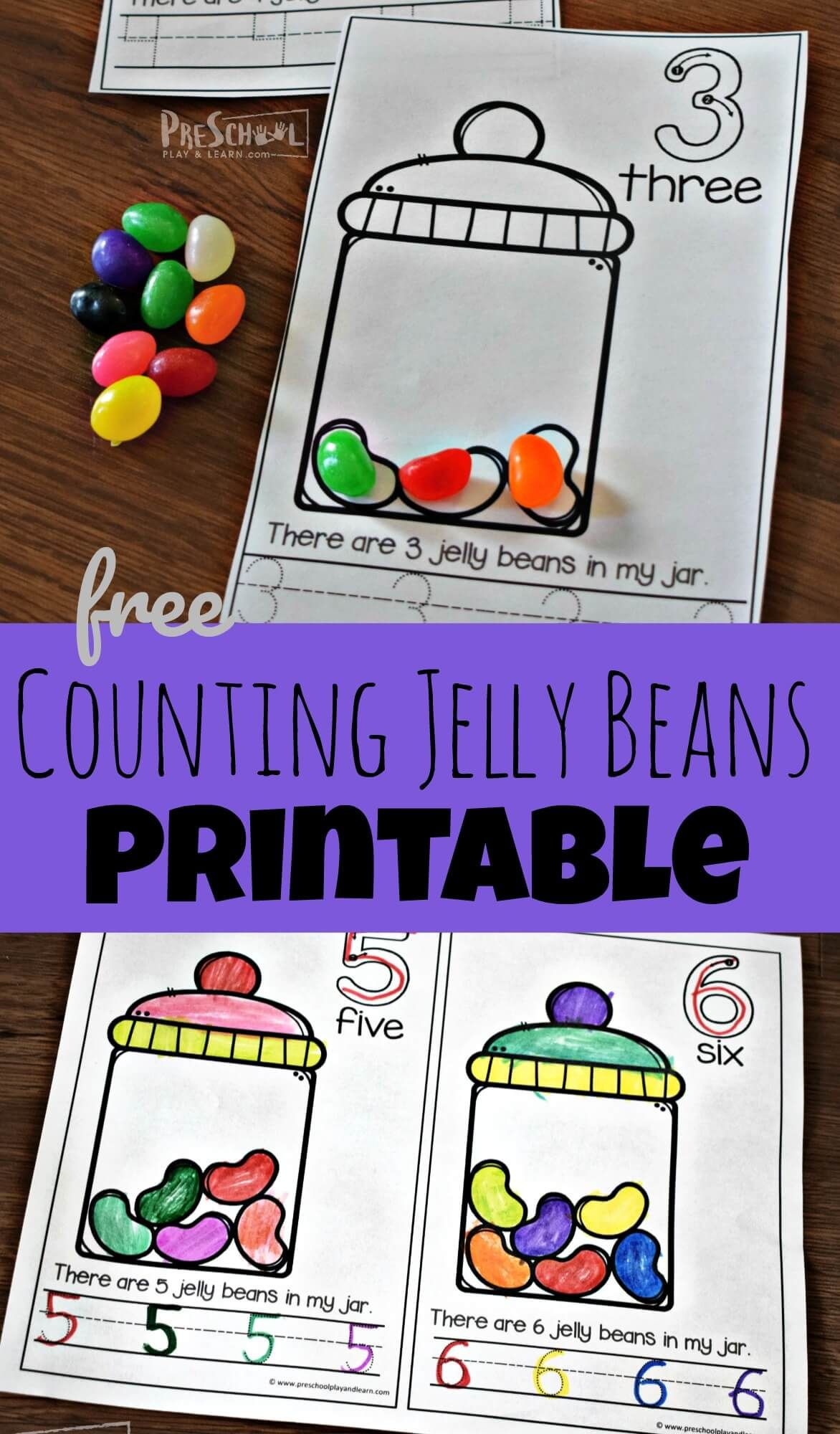 Free Counting Jelly Beans Early Reader