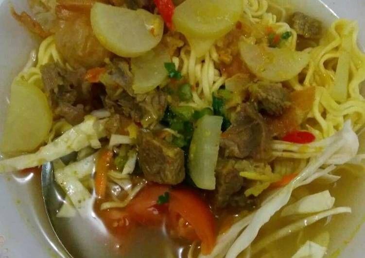 Resep Soto Mie Bogor Oleh Restystika Resep Rebusan Daging Lobak Rebusan
