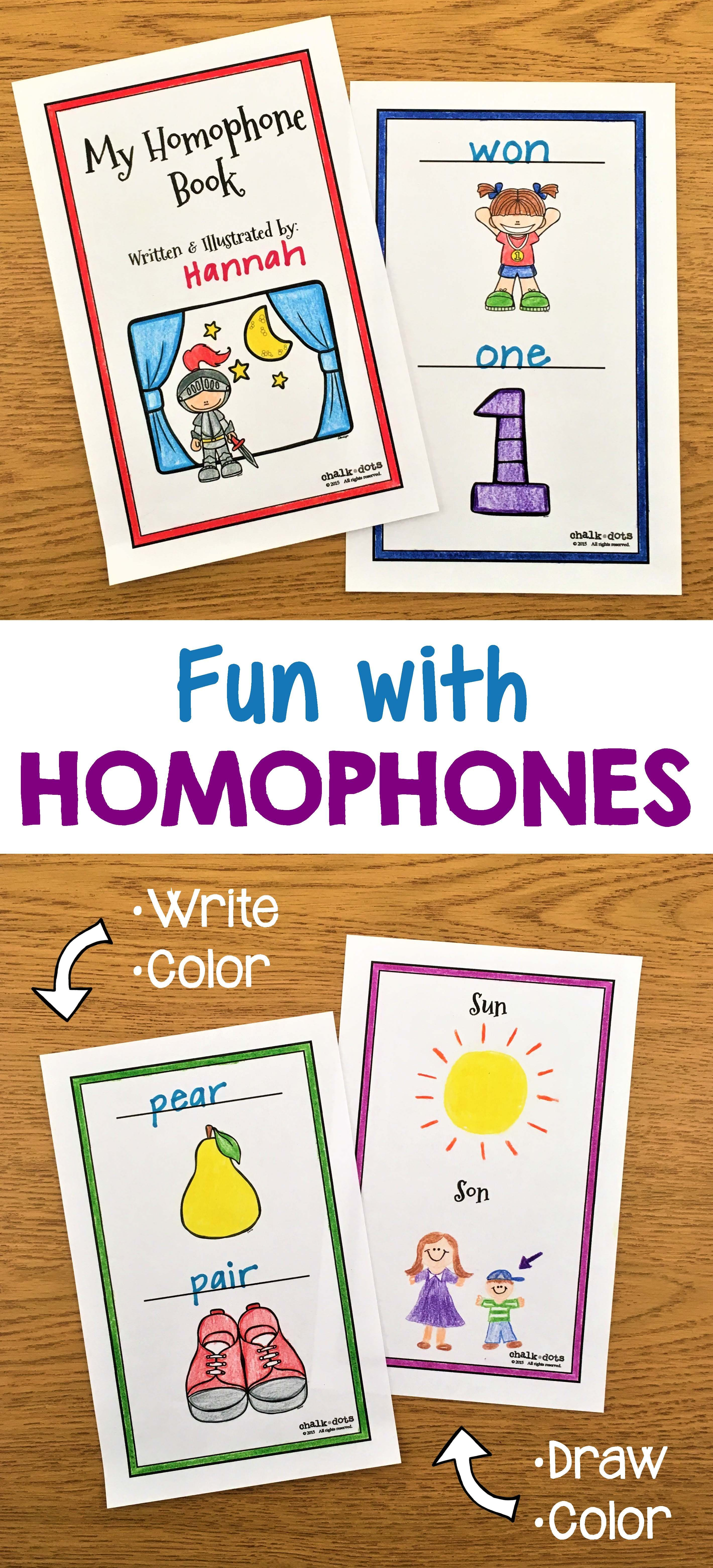 Homophone Activities Teaching Ideas