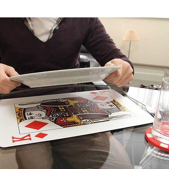 Manteles  y posavasos Casino (pack 4)