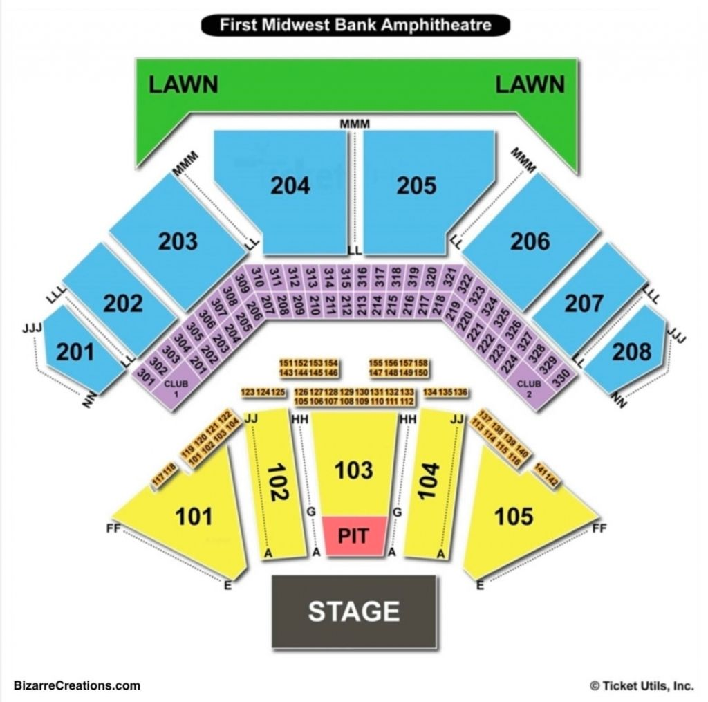 Stylish And Also Interesting Hollywood Casino Amphitheater Interactive Seating Chart