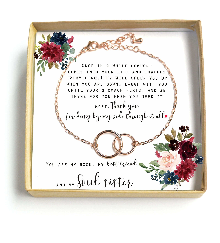 Best friend necklace unbiological sister giftbig little