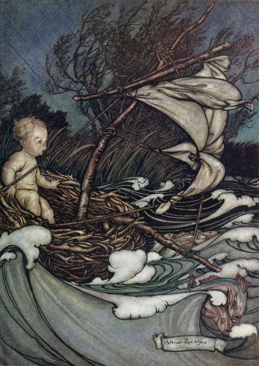 Arthur Rackham ~ There Now Arose a Mighty Storm ~ Peter Pan in Kensington Gardens by J. M. Barrie ~ 1906 ~ via