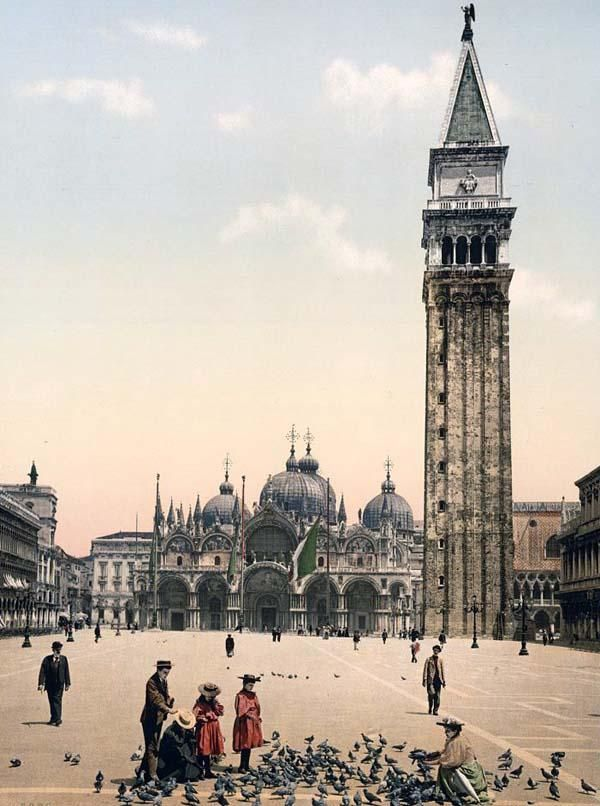 St. Marks Place, with campanile, Venice, Italy,1890 and 1900