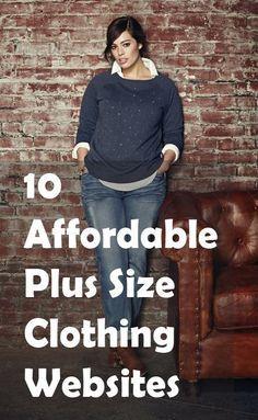 10 Affordable Plus Size Clothing Websites | Size clothing, Girls ...