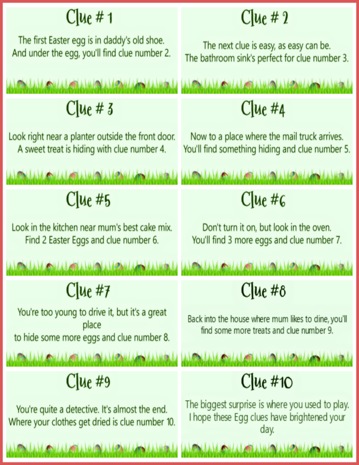 Build an easter basket with clues easter easter hunt and egg it is easy to build an easter basket with clues in a treasure hunt style of easter egg hunt negle Image collections