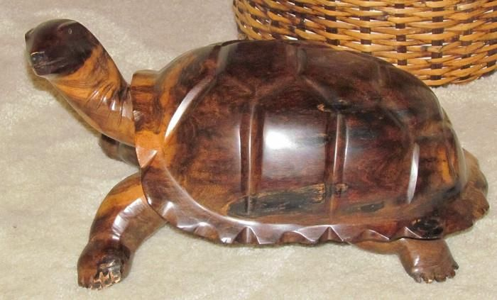 Hand Carved Wooden Tortoise 16 Quot X 10 Quot Friendswood 10 Things Hand Carved