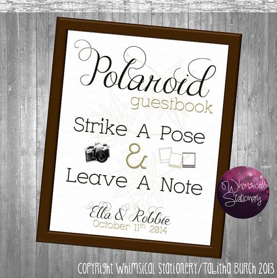 Polaroid Guest Book Station: Fall Photo Guest Book Sign For Wedding (Printable File