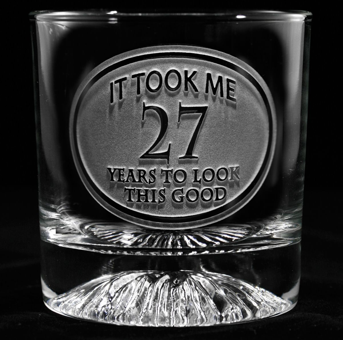 Engraved Birthday Whiskey Glass. Personalized Glasses. Engraved Barware At  Crystal Imagery.