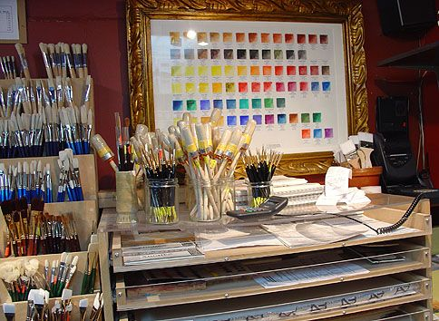 frame the color swatches - not bad idea and looks good