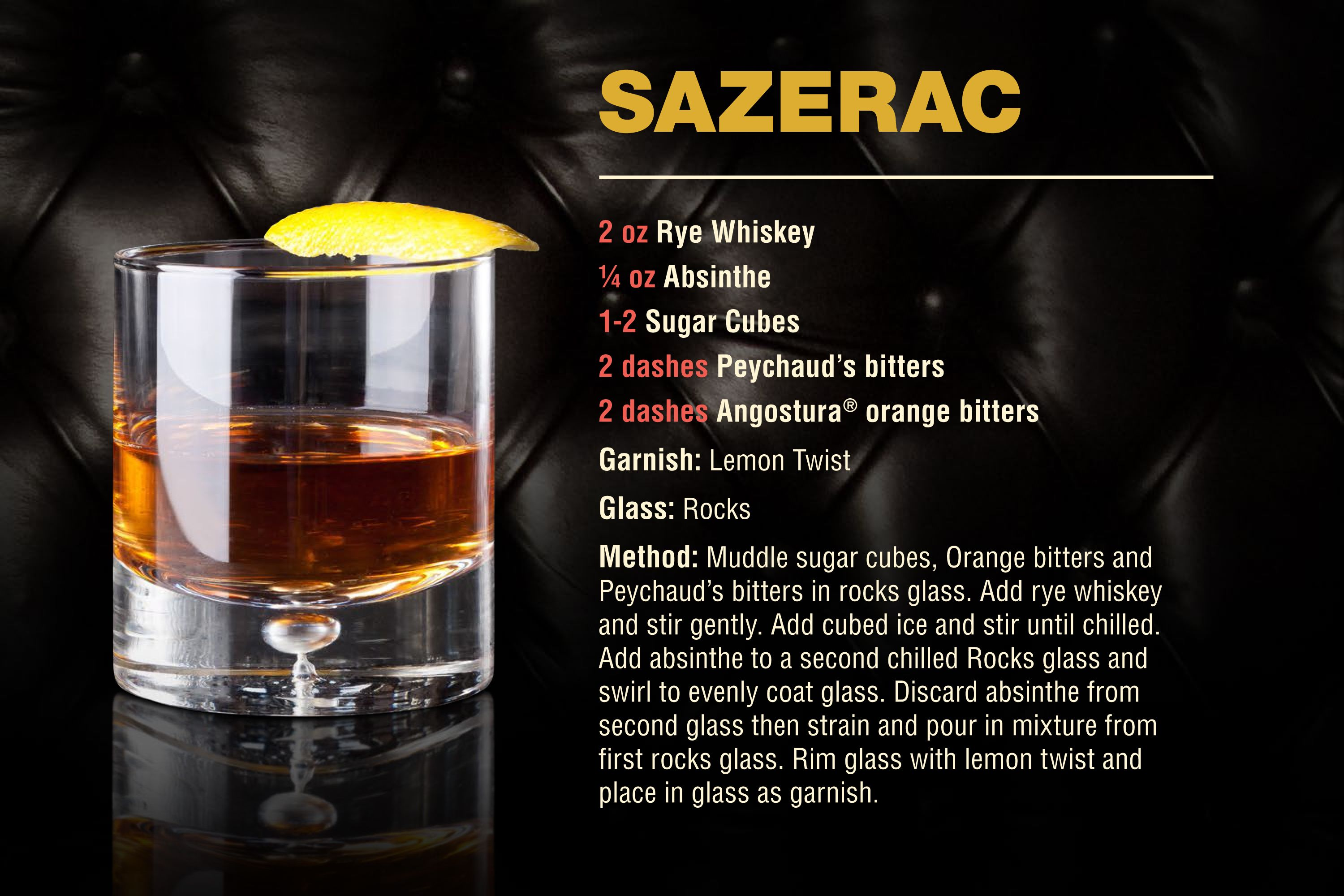 Sazerac | Recipe in 2020 | Sazerac recipe, Peychaud's ...