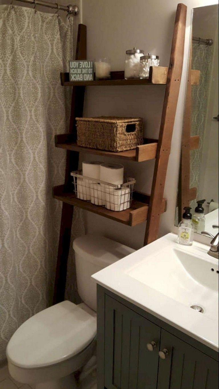 55 Smart Diy Small Bathroom Organization And Storage Ideas Bathroomideas Bathroomdesign Bathr Small Bathroom Diy Small Bathroom Organization Small Bathroom