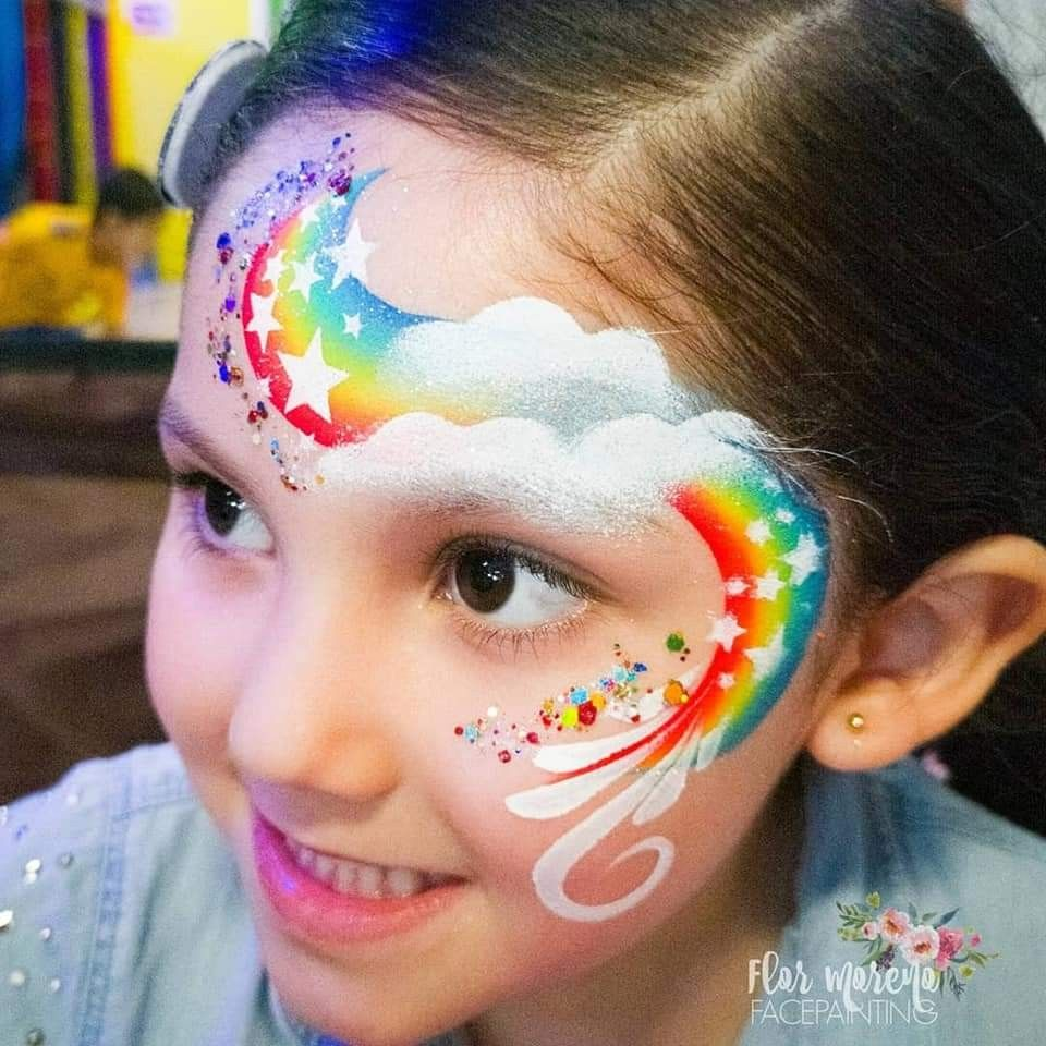 Pin By Noelle Perry On Birthday Face Painting Ideas Face Painting Designs Rainbow Face Paint Face Painting Easy