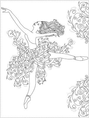 Free Coloring Pages: Ballerina Primavera * Ballet coloring pages ...