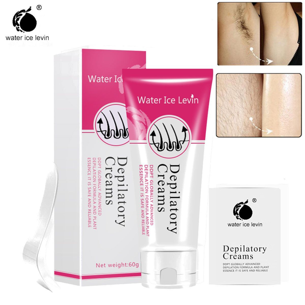Water Ice Levin Painless Hair Removal Cream Legs Armpit Depilatory