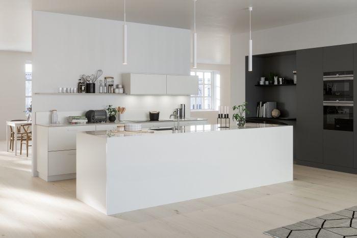 94 Design De Cuisine Blanche Et Grise Cuisine Kitchen