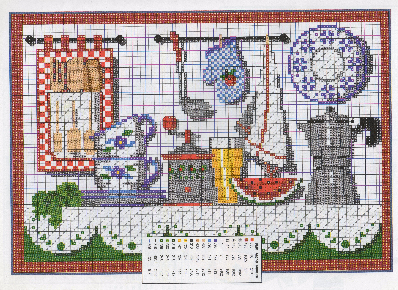 Cozinha punto de cruz pinterest punto de cruz - Punto de cruz cocina ...