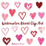 Hearts Clip Art: Watercolor