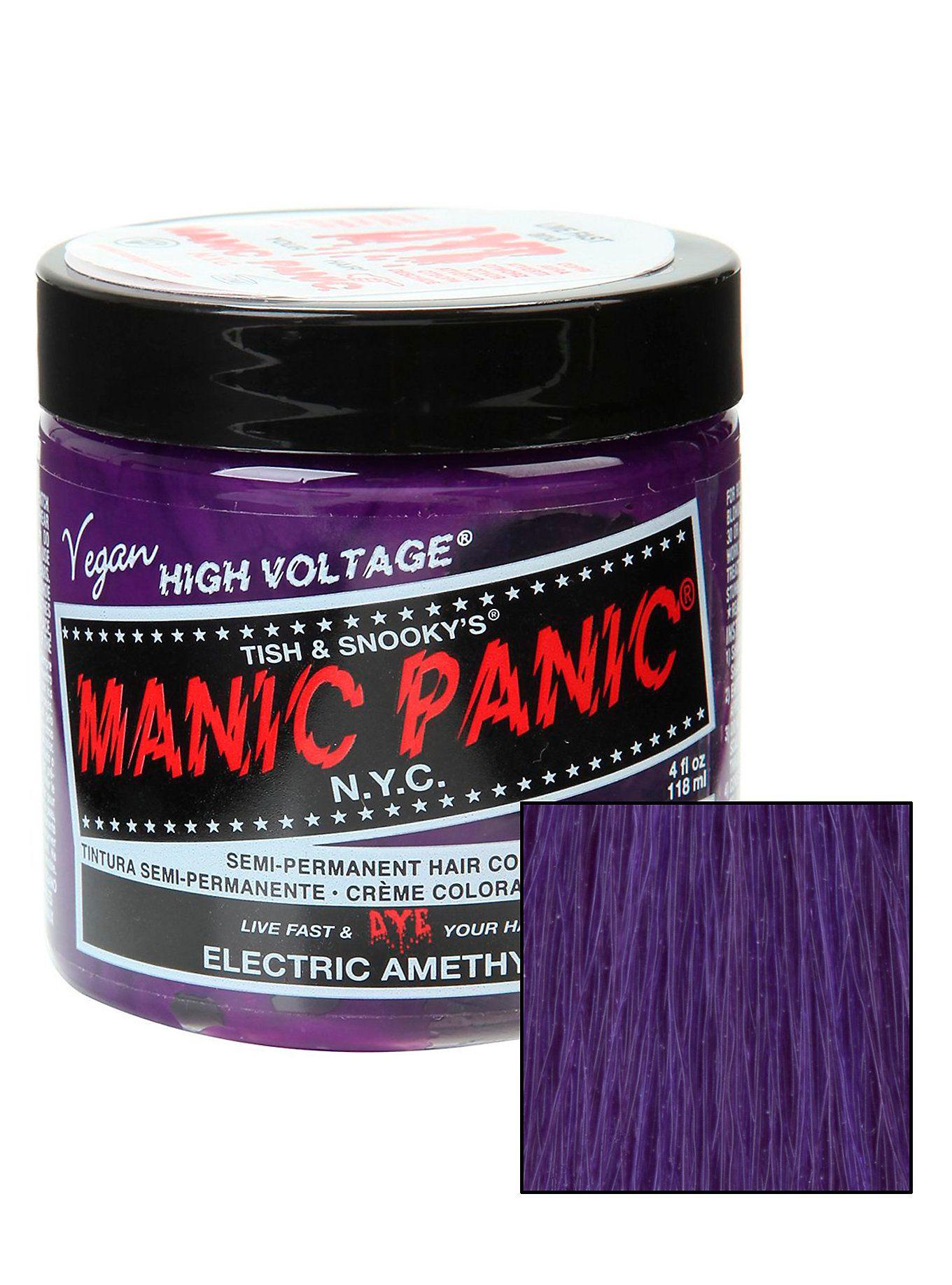 Manic Panic Electric Amethyst Clic Cream Hair Dye Purple Dyesmanic Panichot Topichair