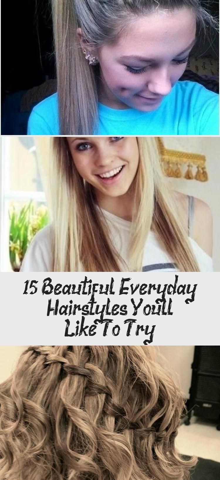 15 Beautiful Everyday Hairstyles You'll Like To Try | Hair styles, Easy summer hairstyles ...